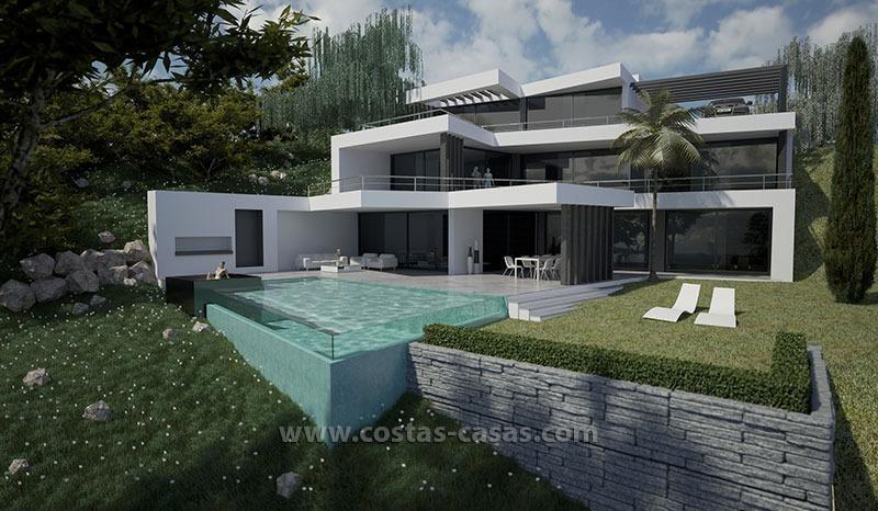 Vendre nouvelle villa moderne de luxe marbella for Facade villa de luxe moderne