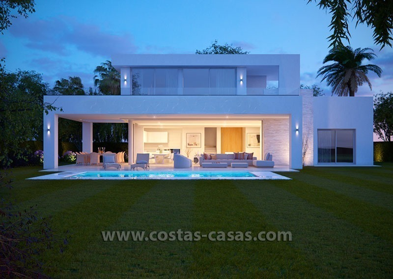 Villa De Luxe Moderne : Élégante villa moderne luxe nouvellement construite marbella