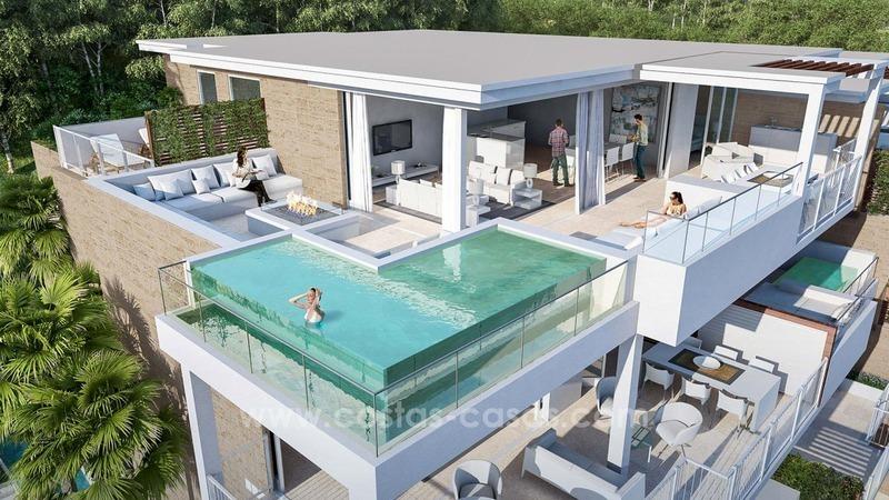 nouveaux appartements luxe modernes vendre mijas costa. Black Bedroom Furniture Sets. Home Design Ideas
