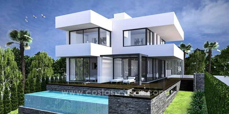 en vente marbella est villa moderne cl en mains en bord de mer. Black Bedroom Furniture Sets. Home Design Ideas