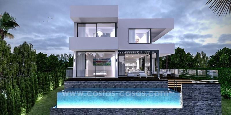 En vente à Marbella Est: villa moderne clé en mains en bord de mer 1