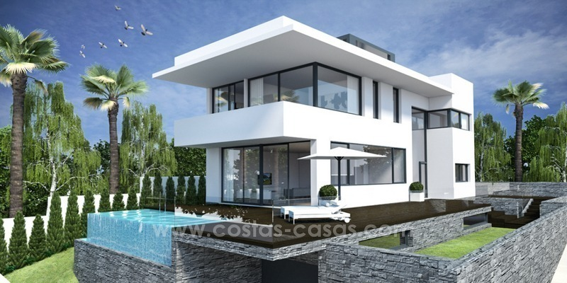 Nouvelle villa luxe moderne bord de mer à vendre l\'Est Marbella
