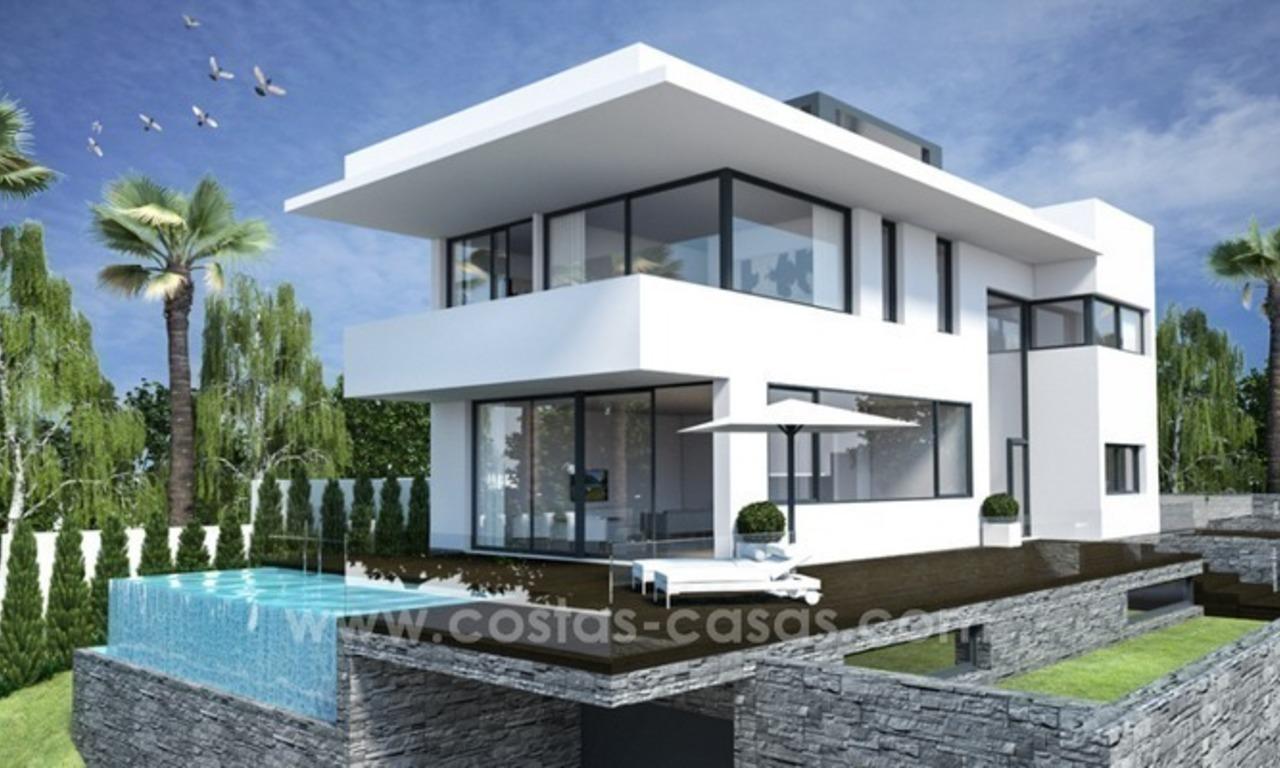 Nouvelle villa de luxe moderne en bord de mer à vendre à l'Est de Marbella