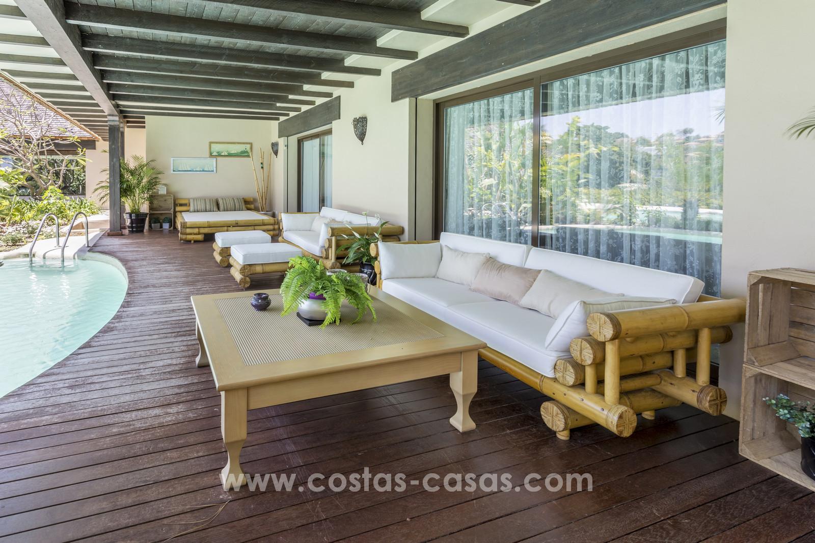 Salon De Jardin Asiatique villa contemporaine asiatiques à vendre, première ligne de golf à marbella