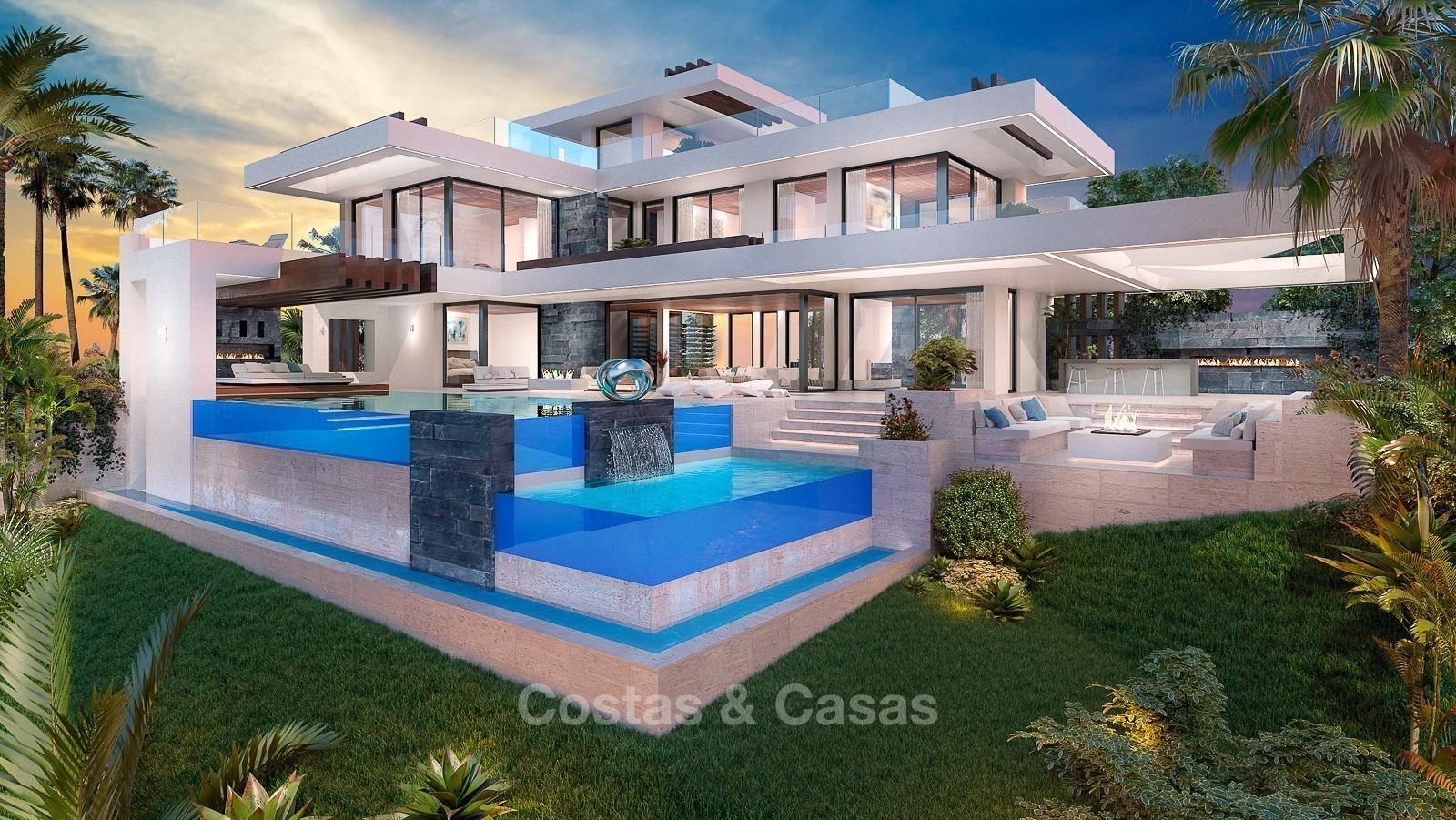Villa De Luxe Moderne A Vendre : Villa luxe moderne avec vue mer et golf à vendre