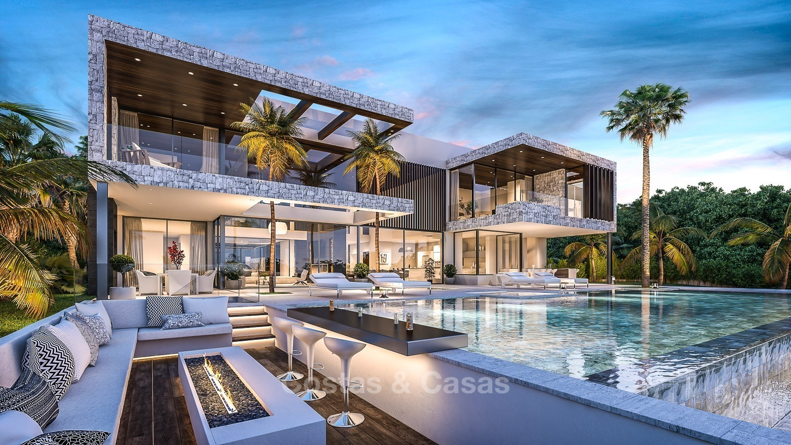 Villa Luxe Moderne vendre Marbella vues Panoramiques Golf et Mer