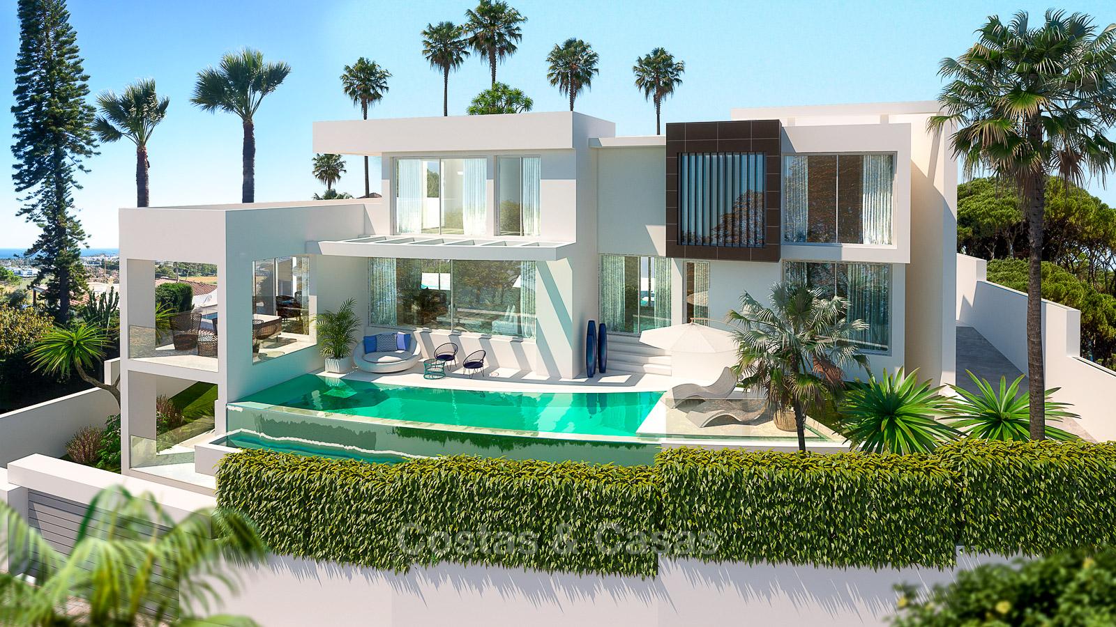 Nouvelle villa luxe moderne à vendre vue mer Nueva Andalucia Marbella