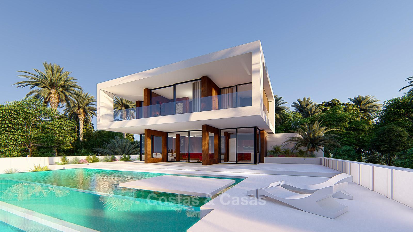 A vendre Nouvelle villa de luxe moderne vue sur mer et golf à Estepona