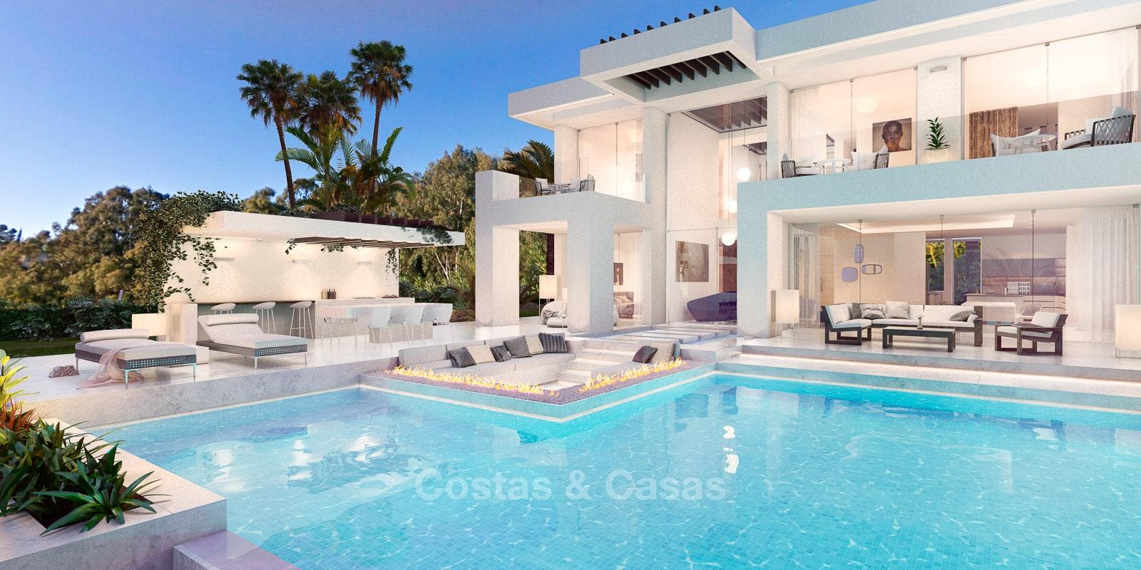 Villa luxe contemporaine neuve à vendre Nueva Andalucia golf Marbella