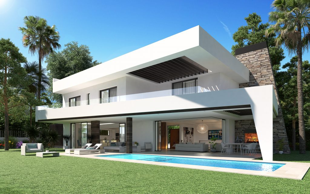 Villa de luxe moderne à vendre au bord de mer, Elviria, Marbella Est