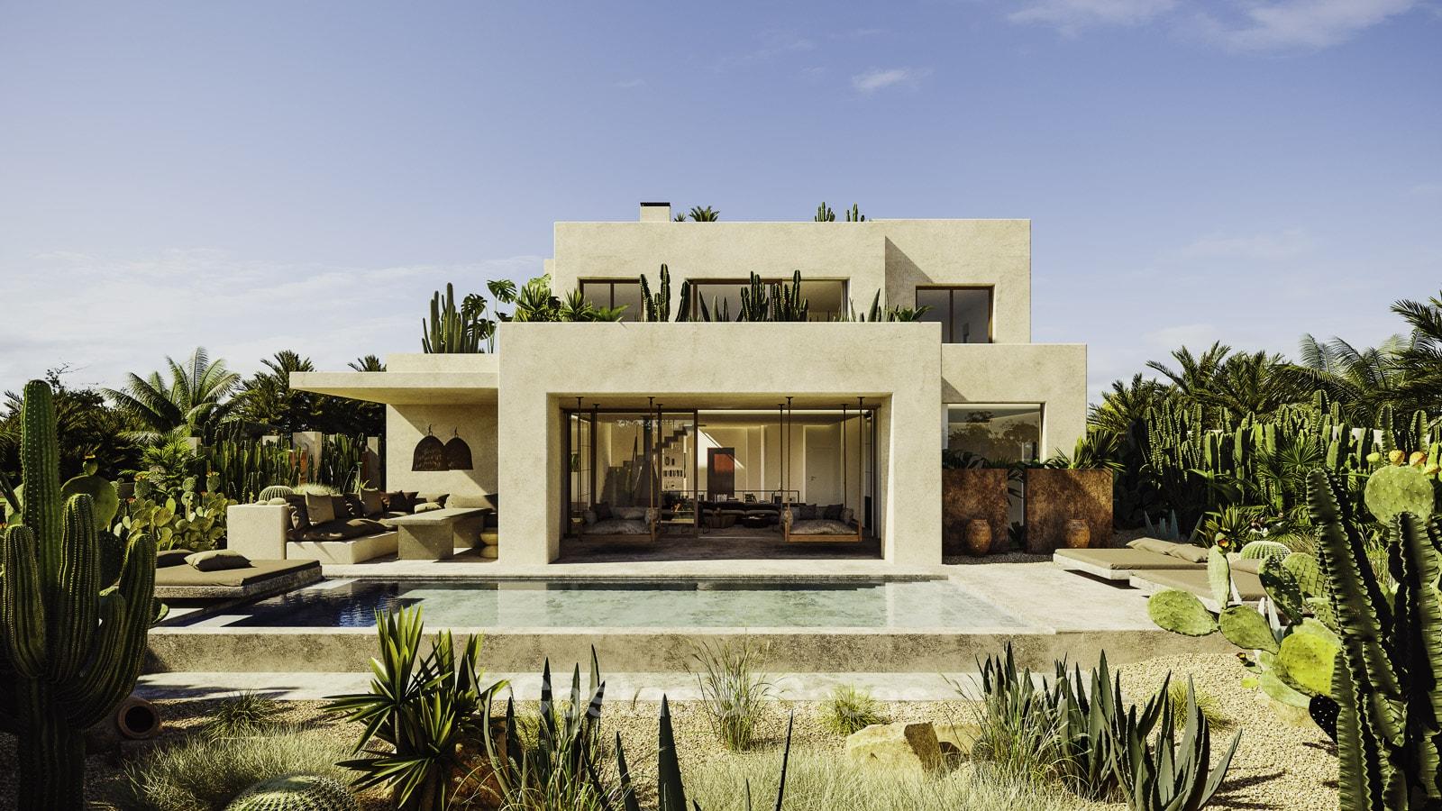Exquise villa luxe moderne à vendre bord plage Los Monteros Marbella